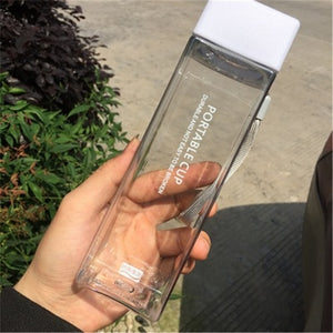 Cool Square water bottles (Frosted/Transparent)
