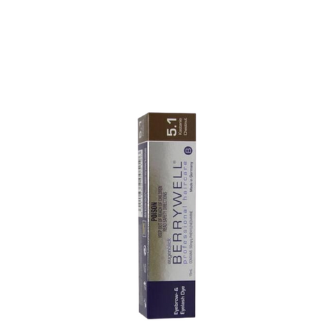 Berrywell Eyebrow & Eyelash Tint 15ml - Chestnut 5-1