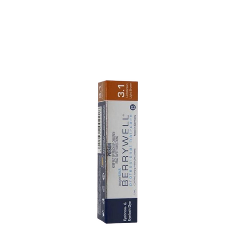 Berrywell Eyebrow & Eyelash Tint 15ml - Light Brown 3-1