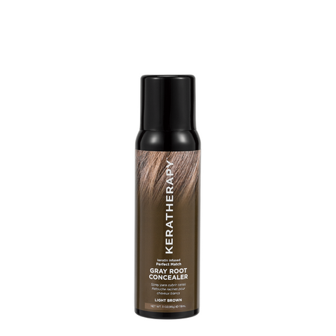 Keratherapy Gray Root Concealer - Light Brown 118ml