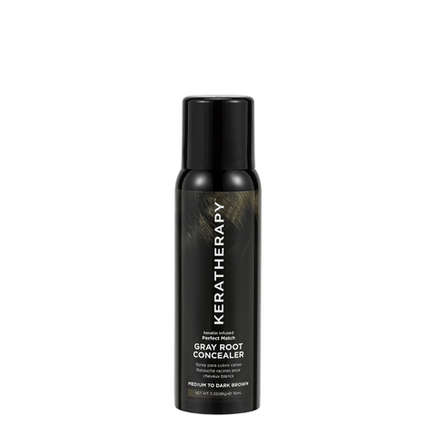Keratherapy Gray Root Concealer - Medium to Dark Brown 118ml