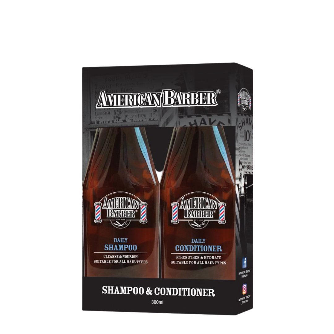 American Barber Daily Shampoo & Conditioner 300ml Duo Pack
