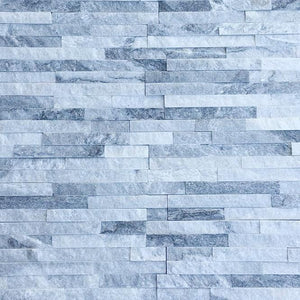 Bundle | White & Grey Mixed Quartz | 360 x 100mm | Bluesky Stone