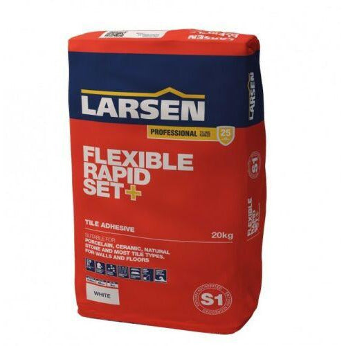 Larsen Professional Flexible Fast Set Adhesive - Grey (20kg) | Bluesky Stone