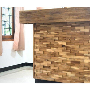 Wood Teak Cladding | Split Face | Brick Model | As Low as £35.75/M² | Bluesky Stone