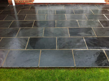 Load image into Gallery viewer, Black Slate Paving | Outdoor Tiles not slabs |Garden & Patio | 600 X 400