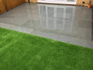 Grey Slate Paving Patio Slabs 600 x 300 | £19.61/m2, collect or delivered