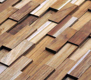 Wood Teak Cladding | Split Face | Diverse Model | As Low as £35.75/M² | Bluesky Stone