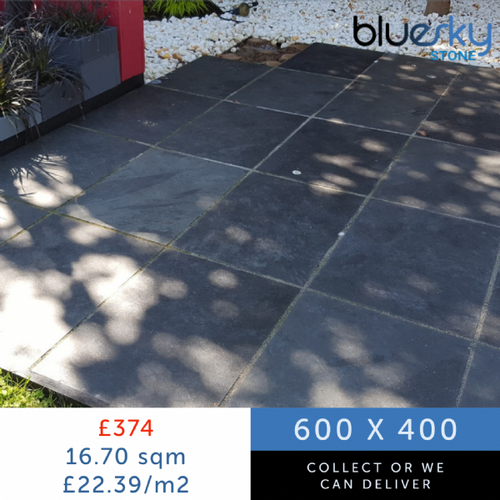 Black Slate Paving Patio Slabs | 600 x 400 | £21.78/m2 | Bluesky Stone