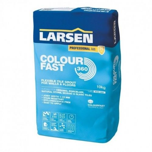 Larsen Flexible Rapid Set Colourfast 360 Tile Grout (10kg) | Bluesky Stone