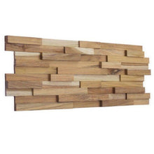 Load image into Gallery viewer, Wood Teak Cladding | Split Face | Stripes Model | As Low as £35.75/M² | Bluesky Stone