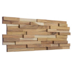 Wood Teak Cladding | Split Face | Stripes Model | As Low as £35.75/M² | Bluesky Stone