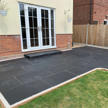 Load image into Gallery viewer, Black Limestone Paving Slabs, 900x600 £17.62/m2, collection only