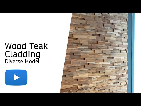Wood Teak Cladding | Split Face | Diverse Model | As Low as £35.75/M²