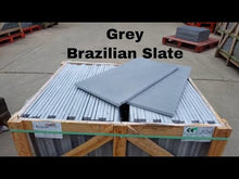 Load and play video in Gallery viewer, Grey Slate Paving Patio Slabs 600 x 300 | £19.61/m2, collect or delivered