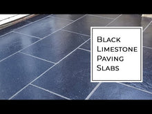 Load and play video in Gallery viewer, Black Limestone Paving Slabs, 900x600 £17.00/m2, collection only