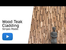 Load and play video in Gallery viewer, Wood Teak Cladding | Split Face | Stripes Model | As Low as £35.75/M²