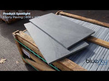 Load and play video in Gallery viewer, Black Slate Paving Patio Slabs |800 x 400 | £24.40/m2
