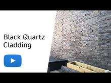 Load and play video in Gallery viewer, Black quartz split face tiles - Bluesky Stone - Product Video