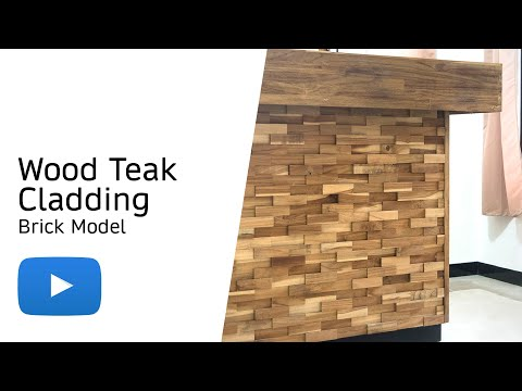 Wood Teak Cladding | Split Face | Brick Model | As Low as £35.75/M²