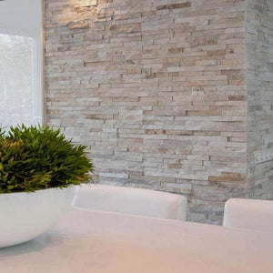 Stone Wall Cladding - Cream Quartz I 360 X 100mm