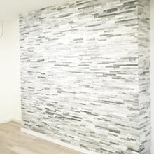 Load image into Gallery viewer, Stone Wall Cladding - White & Grey Mixed Quartz | 360 X 100mm