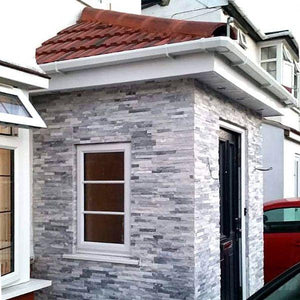Stone Wall Cladding - White & Grey Mixed Quartz | 360 X 100mm
