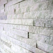 Load image into Gallery viewer, Stone Wall Cladding - White Quartz | 360 X 100mm