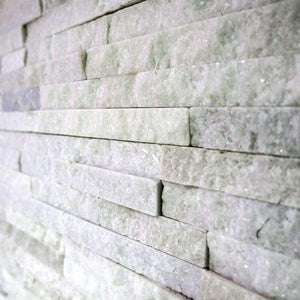 Stone Wall Cladding - White Quartz | 360 X 100mm