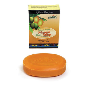 Mango Butter African Black Soap - 3½ oz..