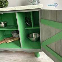 Load image into Gallery viewer, Green / White and Gray Farmhouse Cabinet - Furniture MaRiTama HOME