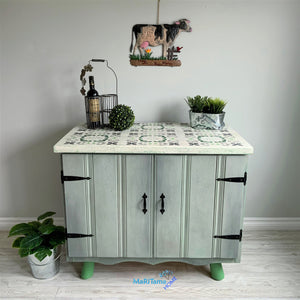 Green / White and Gray Farmhouse Cabinet - Furniture MaRiTama HOME