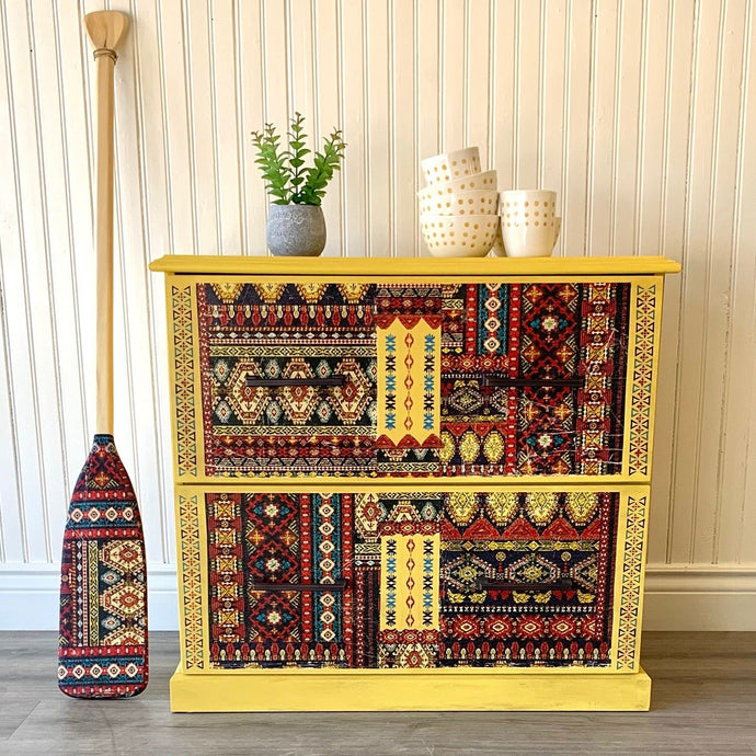 Accent Boho Style Yellow Dresser - Furniture MaRiTama HOME