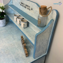 Load image into Gallery viewer, MaRiTama HOME Farmhouse blue and white kitchen dining cabinet