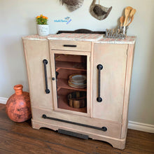 Load image into Gallery viewer, Antique Farmhouse Kitchen / Dining Terracotta Cabinet - Furniture MaRiTama HOME
