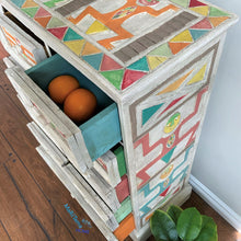 Load image into Gallery viewer, Antique Hand-Carved Thai Eclectic Boho Multi-colored Chest of Drawers - Furniture MaRiTama HOME