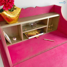 Load image into Gallery viewer, Antique Shocking Pink and Gold Writing Table - Furniture MaRiTama HOME