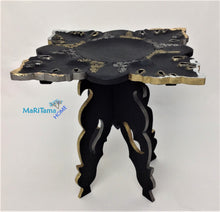 Load image into Gallery viewer, Black with Gold and Silver Decorative Accent Table - Furniture MaRiTama HOME