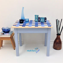 Load image into Gallery viewer, MaRiTama HOME blue weaved side end table