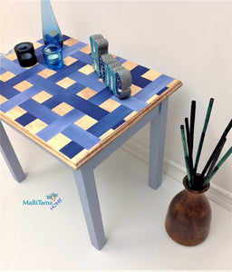MaRiTama HOME blue weaved side end table