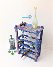 Load image into Gallery viewer, MaRiTama HOME boho blue bar furniture wine rack