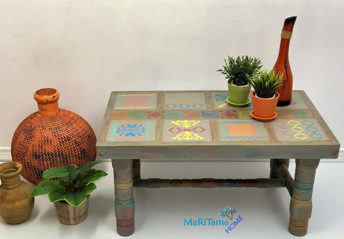 MaRiTama HOME Boho Spanish tile coffee table