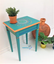 Load image into Gallery viewer, Boho Style Turquoise-Green Accent Side / End Table - Furniture MaRiTama HOME