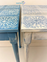 Load image into Gallery viewer, MaRiTama HOME Boho blue and white tv dinner work table set desk