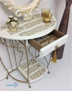MaRiTama HOME white and gold boho contemporary entry table