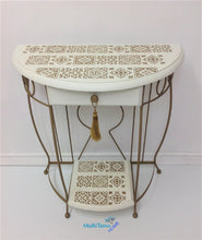 Load image into Gallery viewer, MaRiTama HOME white and gold boho contemporary entry table