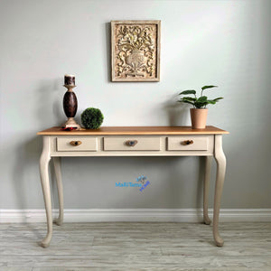 Classic Natural Wood Top Sandy Entryway/ Console Table - Furniture MaRiTama HOME