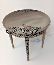 Load image into Gallery viewer, MaRiTama HOME Round brown contemporary cheetah leopard accent table