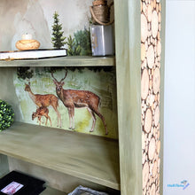 Load image into Gallery viewer, Farmhouse Forest Deer Bookcase - Furniture MaRiTama HOME