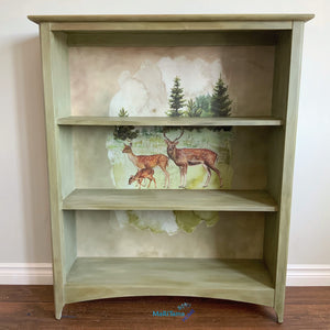 Farmhouse Forest Deer Bookcase - Furniture MaRiTama HOME